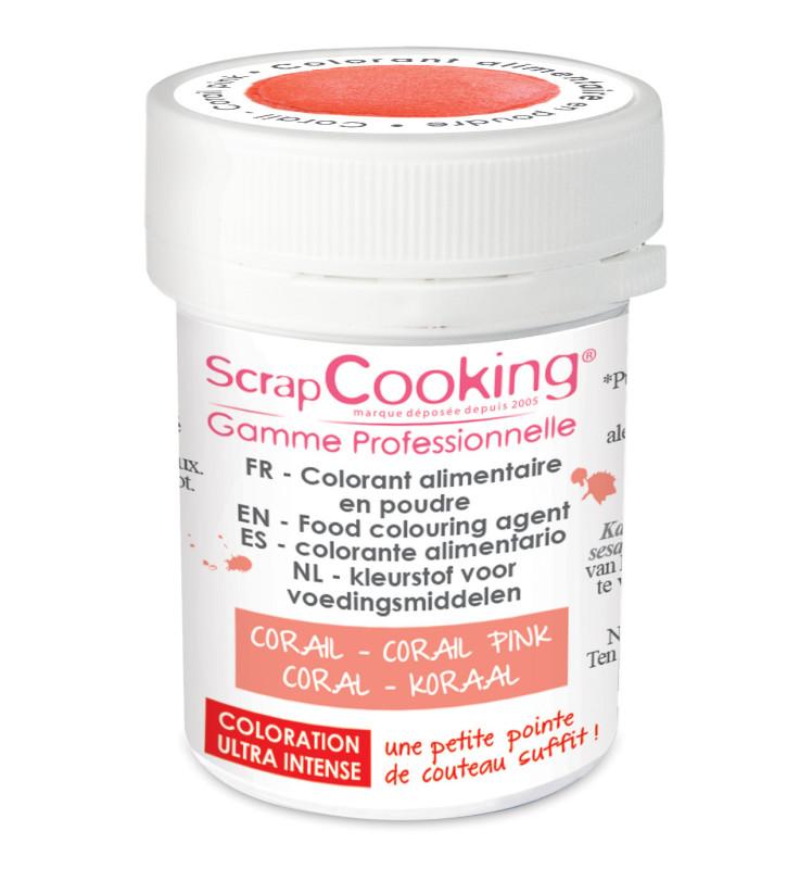 colorant alimentaire en poudre corail 5g scrapcooking