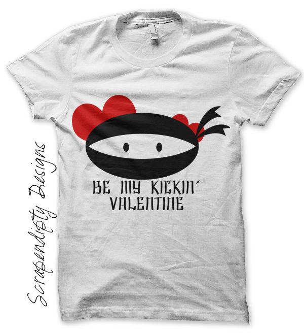 Scrapendipity Designs Ninja Valentine Iron On Transfer