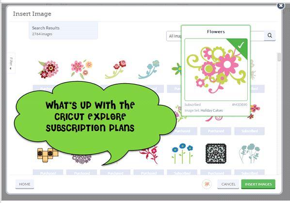 What's Up with Cricut Explore Subscription Plans ? - Scrap