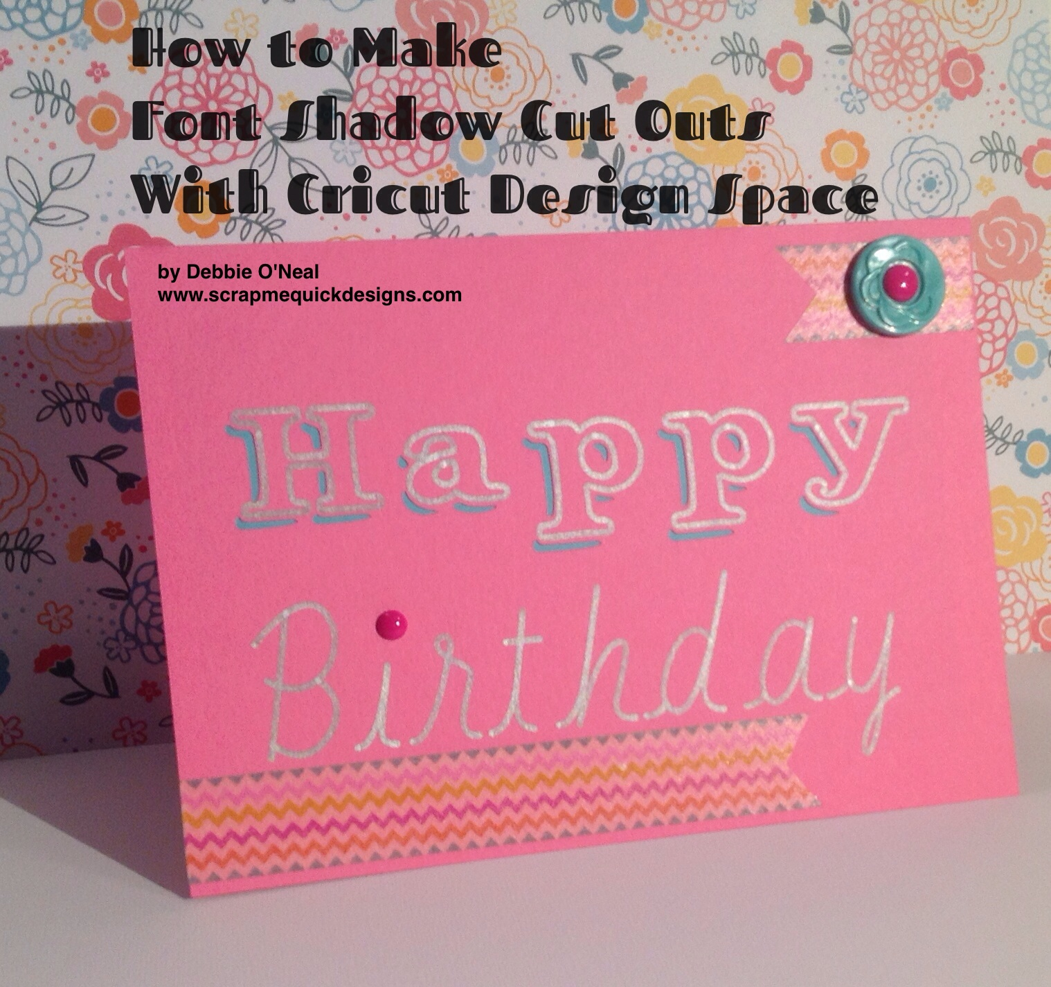 How To Make Shadow Font Cut Out Card