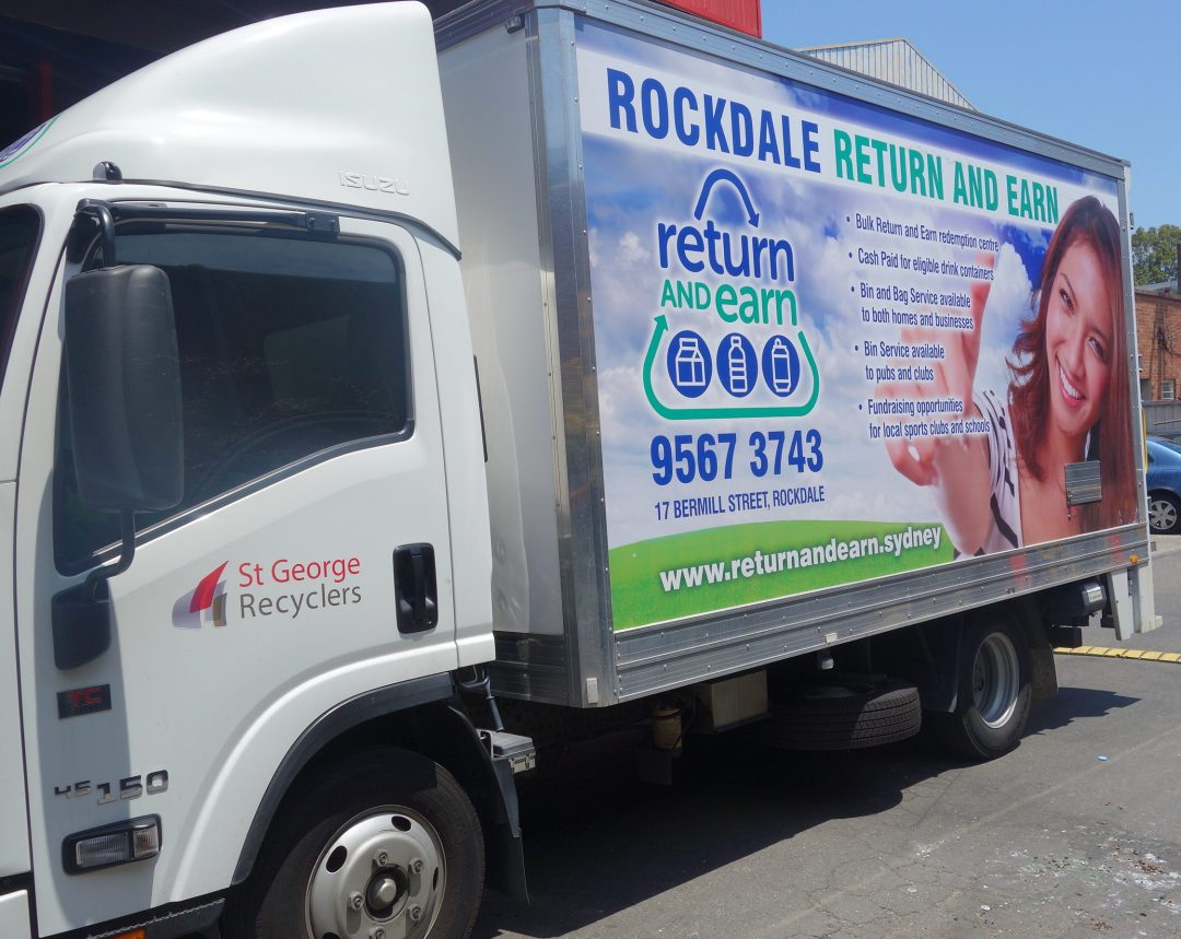 Our Return and Earn Collection truck