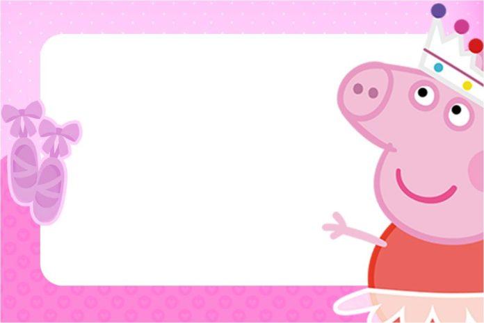 invitación cumpleaños Peppa Pig