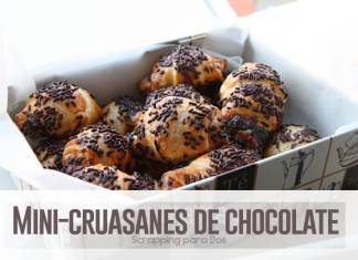mini-cruasanes de chocolate