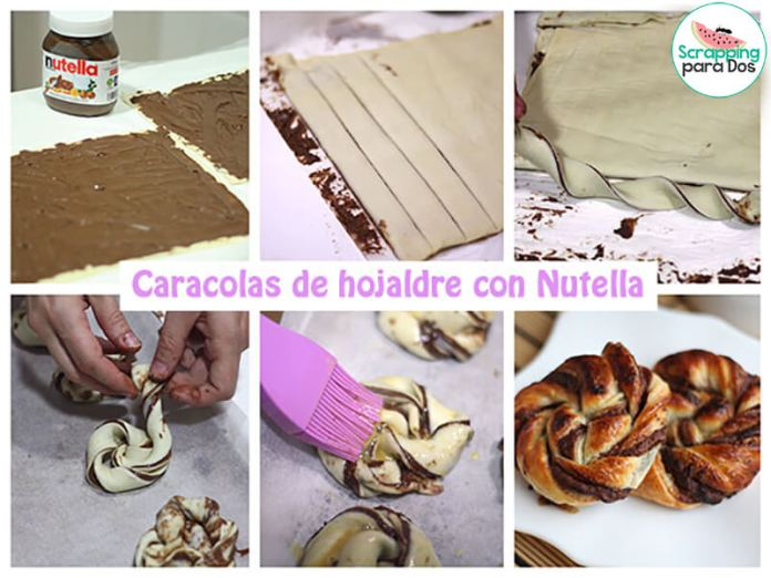 Caracolas de Hojaldre con Nutella