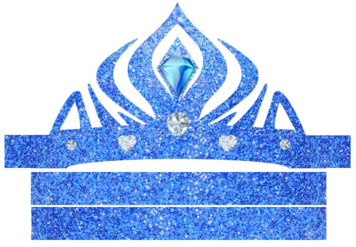 Coronas de Elsa Frozen para imprimir
