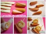Recetas con niños: caracoles de salchichas