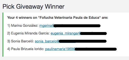 ganadores fofucha veterinaria
