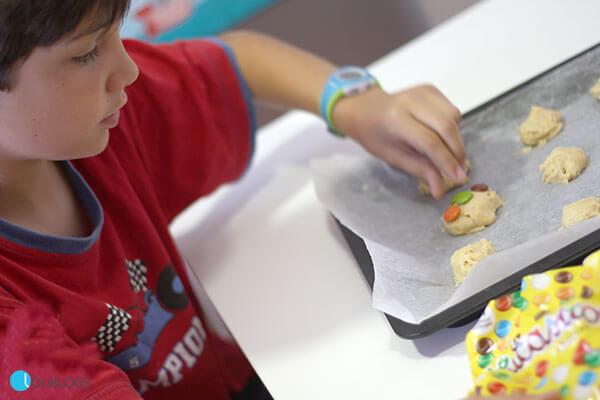 galletas de vainilla con lacasitos