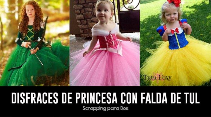 a63278b1c Disfraces de Princesa con Falda de Tul