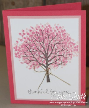 Cute card made with the Sheltering Tree stamp set.
