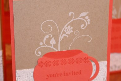 Tea Cup Shower Invitation