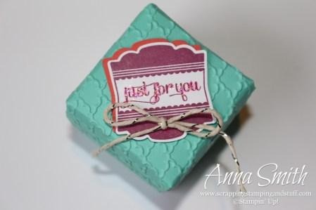 Mini Box Made Using Stampin' Up's Gift Box Punch Board
