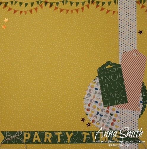 Party Time Scrapbook Page #tgifc11