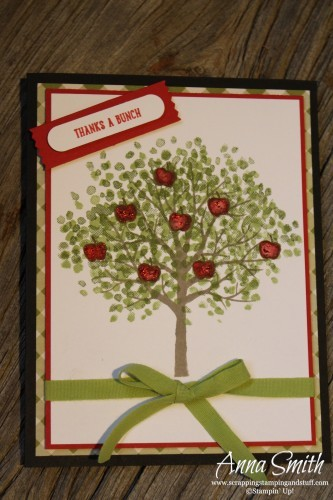 A Bunch of Apples Card featuring Sheltering Tree and Sprinkles of Life - Stampin' Up!