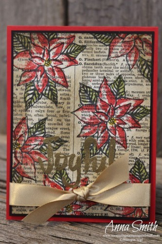 Reason for the Season Poinsettia Card Stampin' Up!