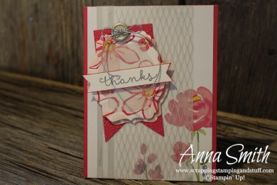 A Floral Thank You Card - Garden in Bloom and Cottage Greetings stamp sets Stampin' Up!
