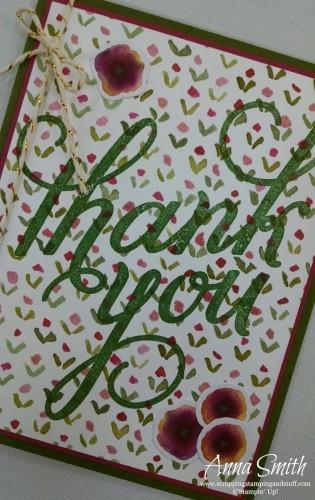 English Garden Thank You Card