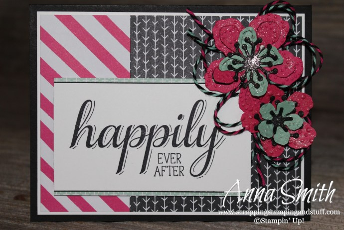 Botanical Blooms Wedding Card made with Stamin' Up! Big News stamp set, Botanical Builder dies and It's My Party designer paper