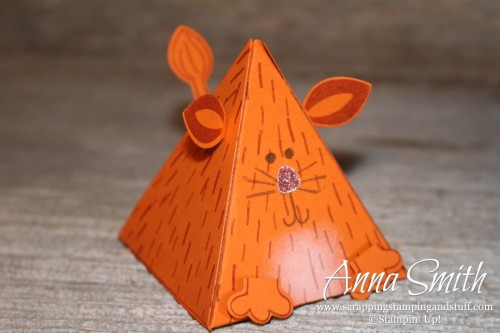 Stampin' Up! Playful Pals Valentine's or Party Cat Treat Box