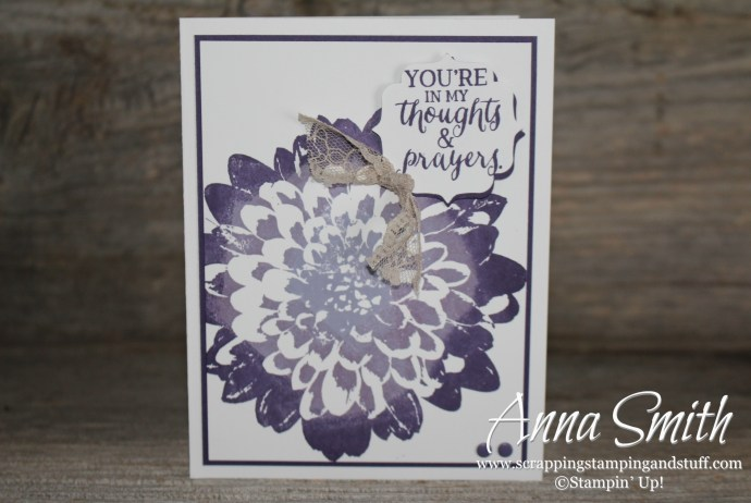 Stampin' Up! Definitely Dahlia Card made using the Rock N Roll technique