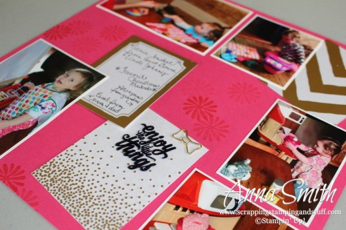 Memories in the Making Scrapbook Page using Friends & Flowers and Enjoy the Little Things stamp sets
