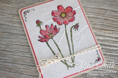 Helping Me Grow Watercolor Flower Card