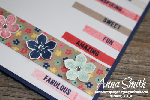 Stampin' Up! Thoughtful Banners You are Fabulous Card with the classic label punch and Affectionately Yours designer paper