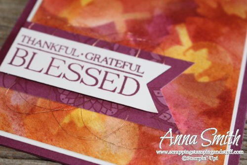 Stampin' Up! Fall Leaf Card using Paisleys & Posies stamp set - kit and tutorial free for Stamp Club members