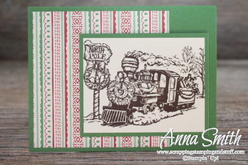 Tuesday Tip: Masking Technique and Tips with the Christmas Magic train stamp set