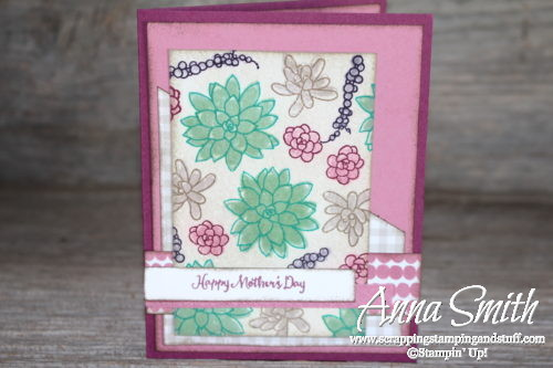 Stampin' Up! Oh So Succulent Watercolor Mother's Day Card Tutorial