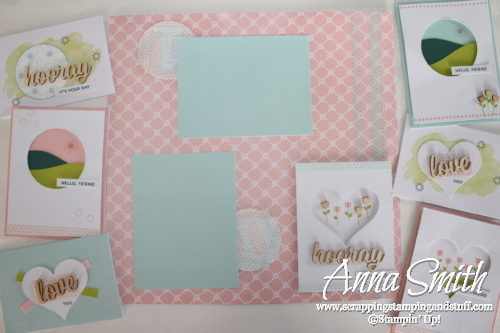 July 2017 Paper Pumpkin Positively Picturesque - cards and scrapbook page alternative ideas