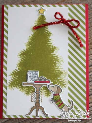 Stampin' Up! Ready For Christmas card idea with cookies for Santa and a weiner dog!