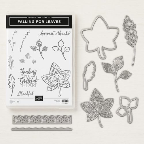Stampin' Up! Falling for Leaves Stamp Set and Detailed Leaves Thinlits