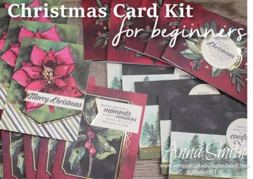 This Christmas Card Kit is PERFECT for beginning stampers, or experienced ones too. Make 20 gorgeous cards in an hour or two - seriously!