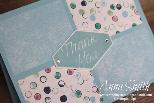Stampin' Up! Tailored Tag Thank You Note