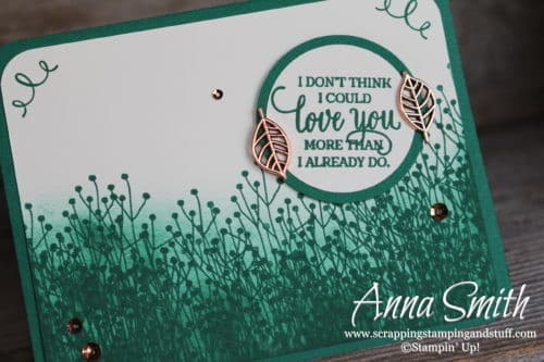 """Green masculine foliage I love you card made with the Stampin' Up! Enjoy Life stamp set """"I don't think I could love you more than I already do."""""""