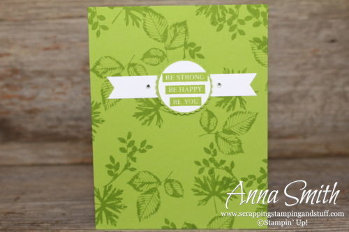 Pretty green encouragement card idea made with Stampin' Up! Rooted in Nature stamp set - Annual Catalog 2018-2019
