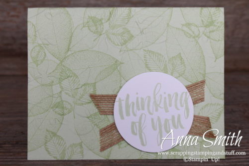 Stampin' Up! Rooted in Nature Thinking of You Leaf Card