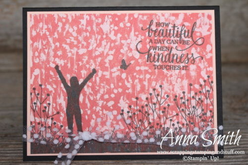 How Beautiful A Day Can Be When Kindness Touches It Card Using Stampin' Up! Enjoy Life Stamp Set - Annual Catalog 2018-2019