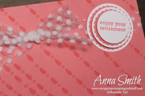 Retirement Card Idea with Stampin' Up! Itty Bitty Greetings and Detailed with Love