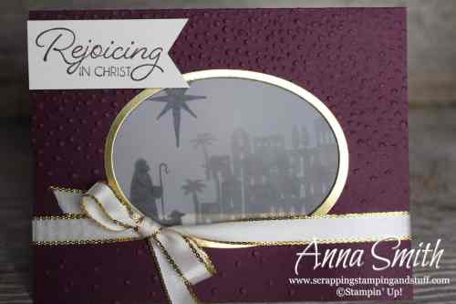12 Days of Handmade Gift Ideas - Day 8 Lantern Card made with the Stampin' Up! Night in Bethlehem tamp set