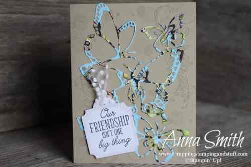 Stampin' Up! Occasions Catalog Sneak Peek! Butterfly card idea using the Stampin' Up! Beauty Abounds Stamp Set and Butterfly Beauty Thinlits