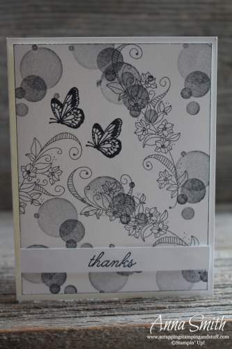 Quick and easy butterfly card idea with the Stampin' Up! Beauty Abounds stamp set #simplestamping