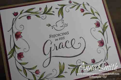 Spiritual, religious card idea made with the Stampin' Up! His Grace stamp set. Great for easter, confirmation, baptism, and other occasions!