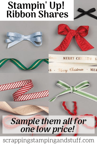 Stampin Up Ribbon Share 2019 Holiday Catalog - Beautiful Holiday Ribbon Assortment For One Low Price!