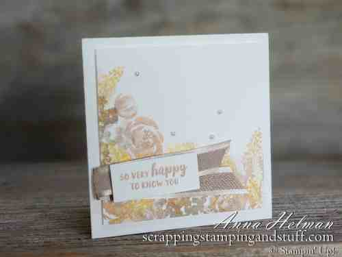 Beautiful floral card made with the Stampin Up Beautiful Friendship stamp set and new Delicata metallic ink pads! Made in two different color schemes! Great for friendship, thank you, birthday or just because!