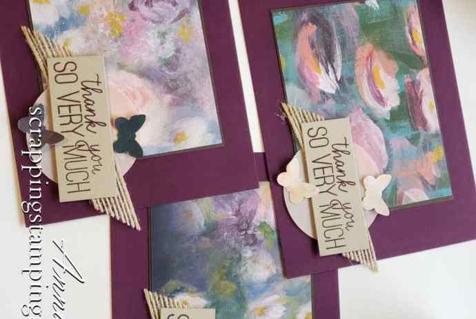 My card swaps for OnStage! A group of handmade butterfly cards using a butterfly punch and Stampin Up Butterfly Gala stamp set
