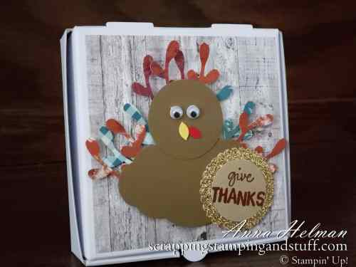 Cute DIY turkey treats Thanksgiving treat boxes! Make perfect table toppers, table decorations, or place cards! Turkey punch art
