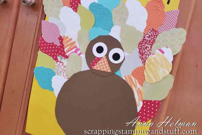 Cute and easy turkey craft idea for kids - perfect Thanksgiving craft idea or decoration