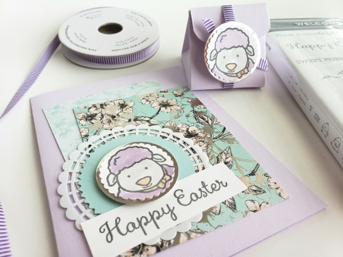Easter Treat Box Tutorial Using Stampin Up Welcome Easter Stamp Set - Easter Card With Lamb